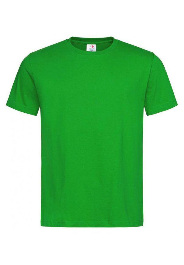 Zielony t-shirt Stedman krótki, casualowy, z krótkim rękawem, na co dzień