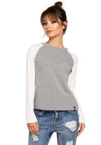 MOE - Szara Klasyczna Bluzka z Długim Rękawem. Kolor: szary. Materiał: bawełna, elastan. Długość rękawa: długi rękaw. Długość: długie. Styl: klasyczny