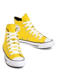 Żółte trampki Converse z cholewką