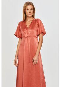 Sukienka Vila maxi, z krótkim rękawem, rozkloszowana