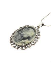 Polcarat Design - Wisiorek srebrny Kamea W 1639. Materiał: srebrne. Kolor: srebrny