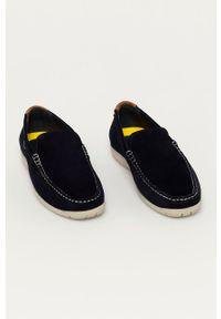 Camel Active - Mokasyny zamszowe. Nosek buta: okrągły. Kolor: niebieski. Materiał: zamsz #3