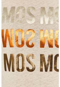 Mos Mosh - T-shirt. Okazja: na co dzień. Kolor: beżowy. Materiał: bawełna, materiał. Wzór: nadruk. Styl: casual