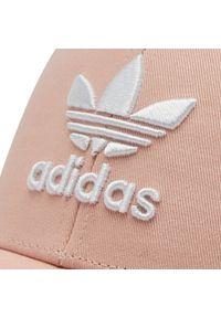 Adidas - Czapka z daszkiem adidas - Trefoil Baseball Cap GN4889 Vappnk. Kolor: różowy. Materiał: materiał, bawełna. Styl: klasyczny, sportowy