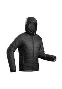 FORCLAZ - Kurtka trekkingowa męska zimowa Forclaz Trek 100 -5°C. Kolor: czarny. Materiał: poliamid, materiał, poliester. Sezon: zima