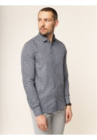Niebieska koszula biznesowa Emporio Armani