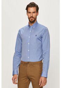 Niebieska koszula Polo Ralph Lauren button down, długa, z długim rękawem