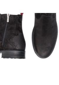 Czarne buty zimowe Marc O'Polo z cholewką