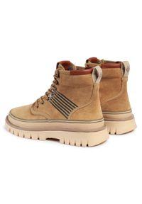 Beżowe buty zimowe GANT z cholewką, casualowe