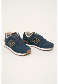 Niebieskie sneakersy New Balance New Balance 574, z cholewką