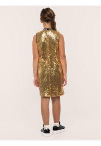 Złota sukienka wizytowa Guess