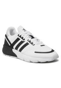 Adidas - Buty adidas - Zx 1K Boost FX6510 Ftwwht/Cblack/Halsil. Zapięcie: sznurówki. Kolor: biały. Materiał: materiał. Szerokość cholewki: normalna. Sezon: lato. Model: Adidas ZX