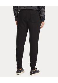 Ralph Lauren - RALPH LAUREN - Spodnie dresowe. Kolor: czarny. Materiał: dresówka. Wzór: haft, aplikacja