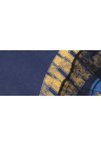 Niebieski t-shirt TROLL z krótkim rękawem, z aplikacjami
