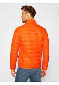 Pomarańczowa kurtka zimowa EA7 Emporio Armani