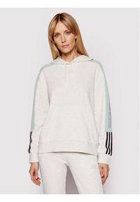 Adidas - adidas Bluza Essentials Logo Colorblock GL1445 Szary Regular Fit. Kolor: szary