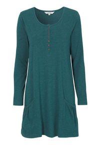 Cellbes Tunika Morski melanż z zielonym female 50/52. Kolor: morski, zielony, wielokolorowy. Materiał: jersey. Długość rękawa: długi rękaw. Długość: długie. Wzór: melanż