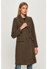 Brązowy płaszcz Vero Moda casualowy, bez kaptura