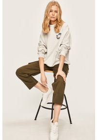 Szara bluza Pepe Jeans z nadrukiem, bez kaptura