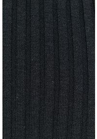 Samsoe & Samsoe - Samsoe Samsoe - Sukienka. Kolor: czarny. Materiał: dzianina. Długość rękawa: długi rękaw. Wzór: gładki. Typ sukienki: rozkloszowane