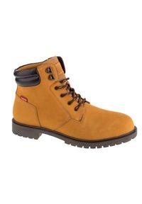 Żółte buty trekkingowe Levi's® na zimę, z cholewką