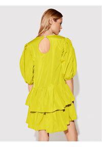 Rage Age Sukienka koktajlowa Cynthia 1 Żółty Slim Fit. Kolor: żółty. Styl: wizytowy