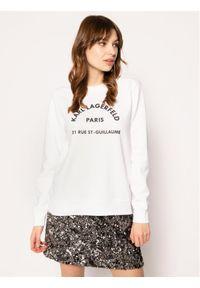 Biała bluza Karl Lagerfeld z dekoltem karo
