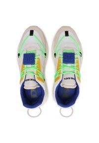 Diesel - Sneakersy DIESEL - S-Serendipity Lace Y02546 P4010 H8518 Star White/Golden Rod. Okazja: na co dzień. Kolor: biały. Materiał: skóra, zamsz, materiał. Szerokość cholewki: normalna. Wzór: aplikacja. Styl: elegancki, sportowy, casual