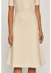 Kremowa spódnica Stefanel na co dzień, klasyczna
