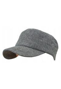 Czarna czapka Pako Jeans na lato, w paski