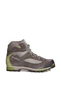 Szare buty trekkingowe Dolomite na lato, z cholewką przed kolano