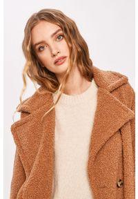 Brązowy płaszcz ANSWEAR bez kaptura, wakacyjny