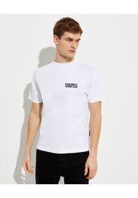 PALM ANGELS - Biały t-shirt z nadrukiem Fishing Club. Kolor: biały. Materiał: bawełna. Wzór: nadruk