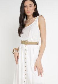 Born2be - Biała Sukienka Cherinoe. Kolor: biały