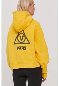 Vans - Bluza. Typ kołnierza: kaptur. Kolor: żółty. Długość rękawa: długi rękaw. Długość: długie