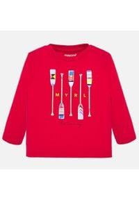 Mayoral Bluzka 1055 Czerwony Regular Fit. Kolor: czerwony