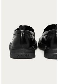 Czarne mokasyny Calvin Klein Jeans eleganckie, z cholewką