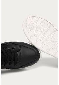 Czarne buty sportowe ANSWEAR z cholewką, na sznurówki, z okrągłym noskiem