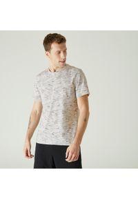 NYAMBA - Koszulka fitness. Kolor: biały. Materiał: poliester, elastan, bawełna, materiał. Sport: fitness
