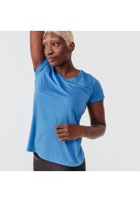 KALENJI - Koszulka do biegania damska Kalenji Run Dry. Kolor: niebieski. Materiał: materiał, poliester. Sport: bieganie