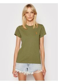 Polo Ralph Lauren T-Shirt Ssl 211734144047 Zielony Regular Fit. Typ kołnierza: polo. Kolor: zielony