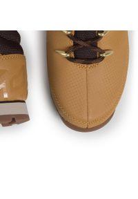 Brązowe buty sportowe Timberland z cholewką, do biegania