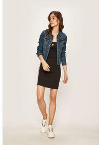 Czarna sukienka adidas Originals na ramiączkach, mini, na co dzień