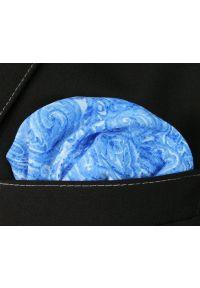 Niebieska poszetka His Story paisley