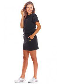 Infinite You - Bawełniana sukienka mini wiązana w talii. Materiał: bawełna. Sezon: lato, wiosna. Długość: mini