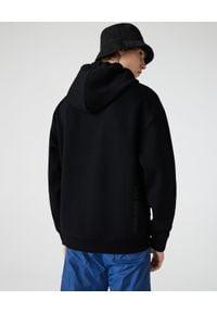 Lacoste - LACOSTE - Czarna bluza z kapturem. Okazja: na co dzień. Typ kołnierza: kaptur. Kolor: czarny. Materiał: jeans. Długość: długie. Wzór: haft. Styl: sportowy, casual