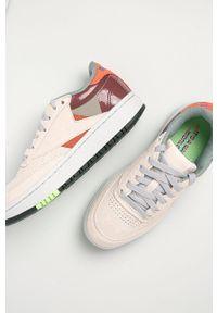Wielokolorowe buty sportowe Reebok Classic na obcasie, z cholewką