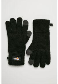 Czarne rękawiczki Ellesse