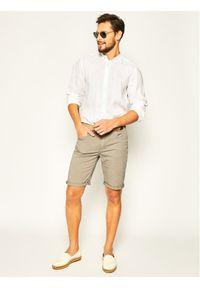 Trussardi Jeans - Trussardi Szorty materiałowe 380 Icon 52J00061 Szary Regular Fit. Kolor: szary. Materiał: materiał