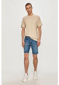 Wrangler - Szorty jeansowe. Okazja: na co dzień. Kolor: niebieski. Materiał: jeans. Styl: casual